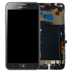 Samsung i8750 Galaxy Active S, LCD kijelző érintőplexivel és előlappal, szürke