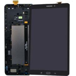 Samsung T585 Galaxy Tab A 10.1 LTE, LCD kijelző érintőplexivel és előlappal, fekete