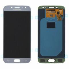 Samsung J530 Galaxy J5 2017, LCD kijelző érintőplexivel, ezüst-világoskék