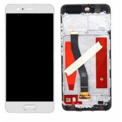 Huawei P10 Dual, LCD kijelző érintőplexivel és előlappal, fehér