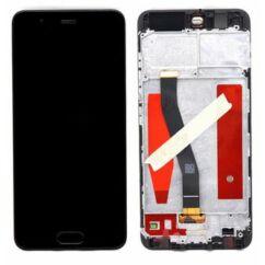 Huawei P10/P10 Dual, LCD kijelző érintőplexivel és előlappal, fekete