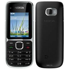 Mobiltelefon, Nokia C2-01 (Bontott, felújított), fekete