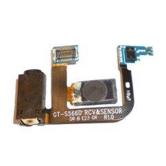 Samsung S5660 Galaxy Gio, Headset csatlakozó, (Hangszóró, Fényérzékelő)