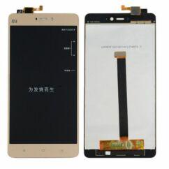 LCD kijelző, Xiaomi Mi4s érintőplexivel, arany