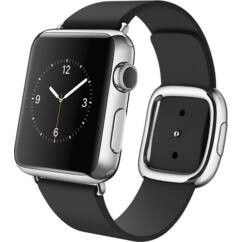 Apple Watch 38mm Stainless Steel 1Series Modern Medium, Okosóra, fekete