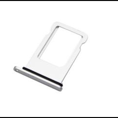 Apple iPhone X, SIM tartó, fehér