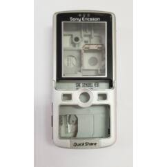 Sony Ericsson K750 komplett ház, Előlap, ezüst