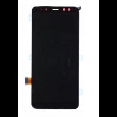 LCD kijelző, Samsung A530 Galaxy A8 2018 érintőplexivel, fekete