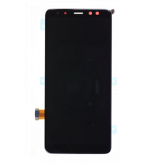 Samsung A530 Galaxy A8 2018, LCD kijelző érintőplexivel, fekete