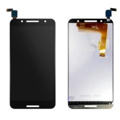 LCD kijelző, Alcatel OT-5090 A7 érintőplexivel, fekete