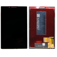 LCD kijelző, Blackberry Key2 (BBF100-1, BBF100-2) érintőplexivel, fekete