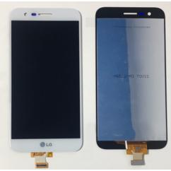 LG K10 2017 M250N, LCD kijelző érintőplexivel, fehér