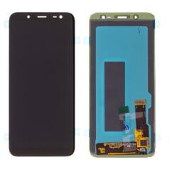 Samsung J600 Galaxy J6 2018, LCD kijelző érintőplexivel, fekete