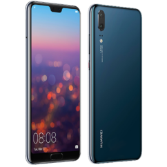 Mobiltelefon, Huawei P20 4G LTE 64GB DualSim, kártyafüggetlen, 1+1 év garancia, kék