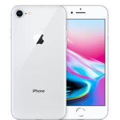Mobiltelefon, Apple iPhone 8 64GB kártyafüggetlen, 1 év garancia, ezüst