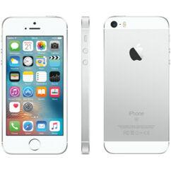 Mobiltelefon, Apple iPhone SE 64GB, Kártyafüggetlen, 1 év garancia, ezüst