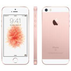 Mobiltelefon, Apple iPhone SE 64GB, Kártyafüggetlen, 1 év garancia, rose gold