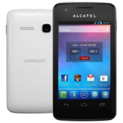Mobiltelefon, Alcatel OT-4030D S POP, Kártyafüggetlen, 1 év garancia, fehér