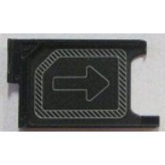 Sony Xperia Z3 D6603/D6616/D6643/D6653/Z3 Compact D5803/D5833/D6633/Z5 Compact E5803/E5823, SIM tartó, fekete