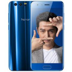 Mobiltelefon, Huawei Honor 9 64GB LTE DualSim, kártyafüggetlen, 1+1 év garancia, kék