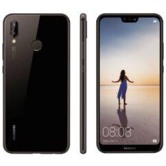 Mobiltelefon, Huawei P20 Lite 64GB DualSim kártyafüggetlen, 1 év garancia, fekete