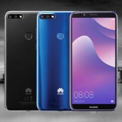 Mobiltelefon, Huawei Y7 Prime 2018 32GB DualSim, Kártyafüggetlen 1+1 év garancia, kék