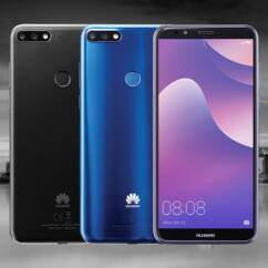 Mobiltelefon, Huawei Y7 Prime 2018 32GB DualSim, Kártyafüggetlen 1 év garancia, kék