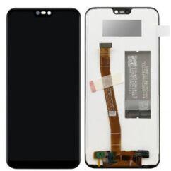 Huawei P20 Lite, LCD kijelző érintőplexivel, (előlap keret nélkül), fekete