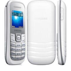 Mobiltelefon, Samsung E1200Y Keystone 2, Kártyafüggetlen, 6 hónap garancia, fehér