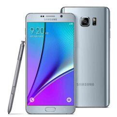 Mobiltelefon, Samsung N920 Galaxy Note 5 32GB kártyafüggetlen, 1 év garancia, ezüst