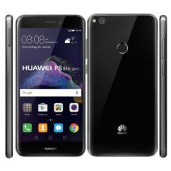 Mobiltelefon, Huawei P8 Lite 2017,  Kártyafüggetlen, 1 év garancia, fekete
