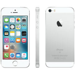 Mobiltelefon, Apple iPhone SE 32GB, Használt, Kártyafüggetlen, 1 hónap garancia, ezüst