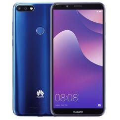 Mobiltelefon, Huawei Y7 2018 16GB, Kártyafüggetlen 1+1 év garancia, kék