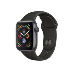 Apple Watch 4 (MU6H2ZP/A) 40mm Nike Sport, Okosóra, ezüst-fekete