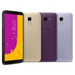 Mobiltelefon, Samsung J600F Galaxy J6 32GB Kártyafüggetlen, 1 év garancia, levendula