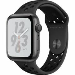 Apple Watch 4 (MU6L2) 44mm Nike+ Sport GPS asztroszürke, Okosóra, fekete
