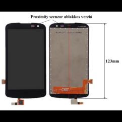 LG K4 K120/K3 K100, LCD kijelző érintőplexivel, (1-es verzió), fekete