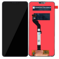 LCD kijelző, Xiaomi Mi8 Lite érintőplexivel, fekete