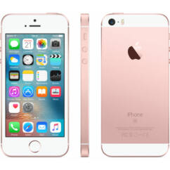 Mobiltelefon, Apple iPhone SE 128GB, Preowned, Kártyafüggetlen, 1év garancia, rose-gold