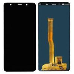 Samsung A750 Galaxy A7 2018, LCD kijelző érintőplexivel, fekete