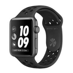 Apple Watch 3 (MTF42LL/A) NIKE 42mm, Okosóra, anthracit fekete