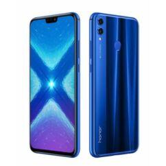 Mobiltelefon, Huawei Honor 8X 128GB DualSim, kártyafüggetlen, 1 év garancia, kék