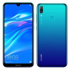 Mobiltelefon, Huawei Y7 2019 32GB 3GB Ram DualSim Piros , Kártyafüggetlen 1 év garancia, kék