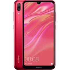 Mobiltelefon, Huawei Y7 2019 32GB 3GB Ram DualSim Piros , Kártyafüggetlen 1 év garancia, piros