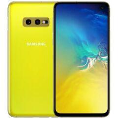 Mobiltelefon, Samsung G970 Galaxy S10E DualSim 128GB kártyafüggetlen, 1év garancia, sárga