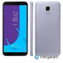 Mobiltelefon, Samsung J600F Galaxy J6 32GB DualSim, Kártyafüggetlen, 1 év garancia, levendula