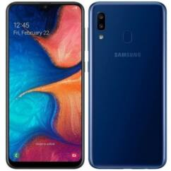 Mobiltelefon, Samsung A205F Galaxy A20 32GB Kártyafüggetlen, 1év garancia, kék