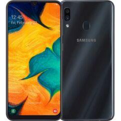 Mobiltelefon, Samsung A305F Galaxy A30 64GB Kártyafüggetlen, 1év garancia, fekete