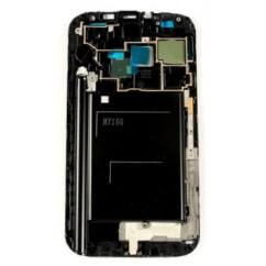 Samsung N7100 Galaxy Note 2, LCD keret, (HOME gombbal), fekete