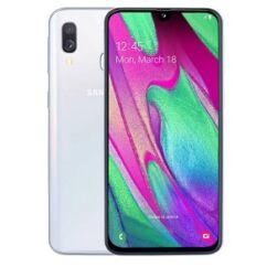 Mobiltelefon, Samsung A405 Galaxy A40, Kártyafüggetlen, 64GB, DualSim, 1év garancia, fehér